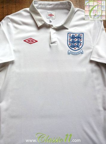 Relive England S 2010 World Cup In South Africa With This Vintage Umbro Home Football Shirt Futbol