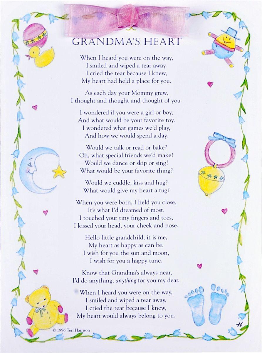 Grandma Card Grandmas Heart Greeting Card Pinterest