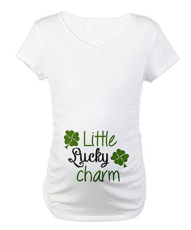 bf78beb77ad4e Take a look at this White  Little Lucky Charm  Maternity Tee - Women by CafePress  on  zulily today!