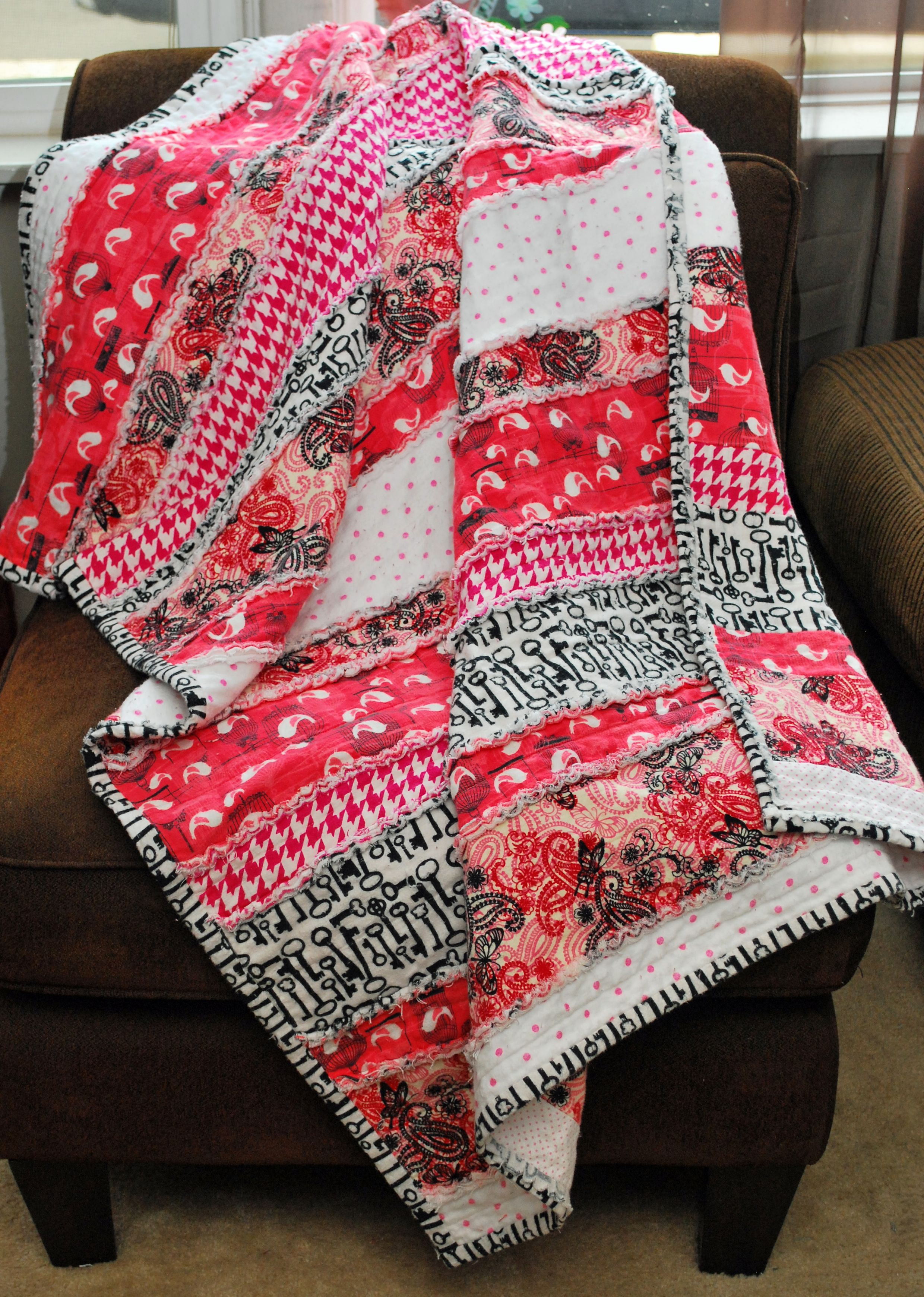 """""""Freedom""""  flannel rug quilt"""