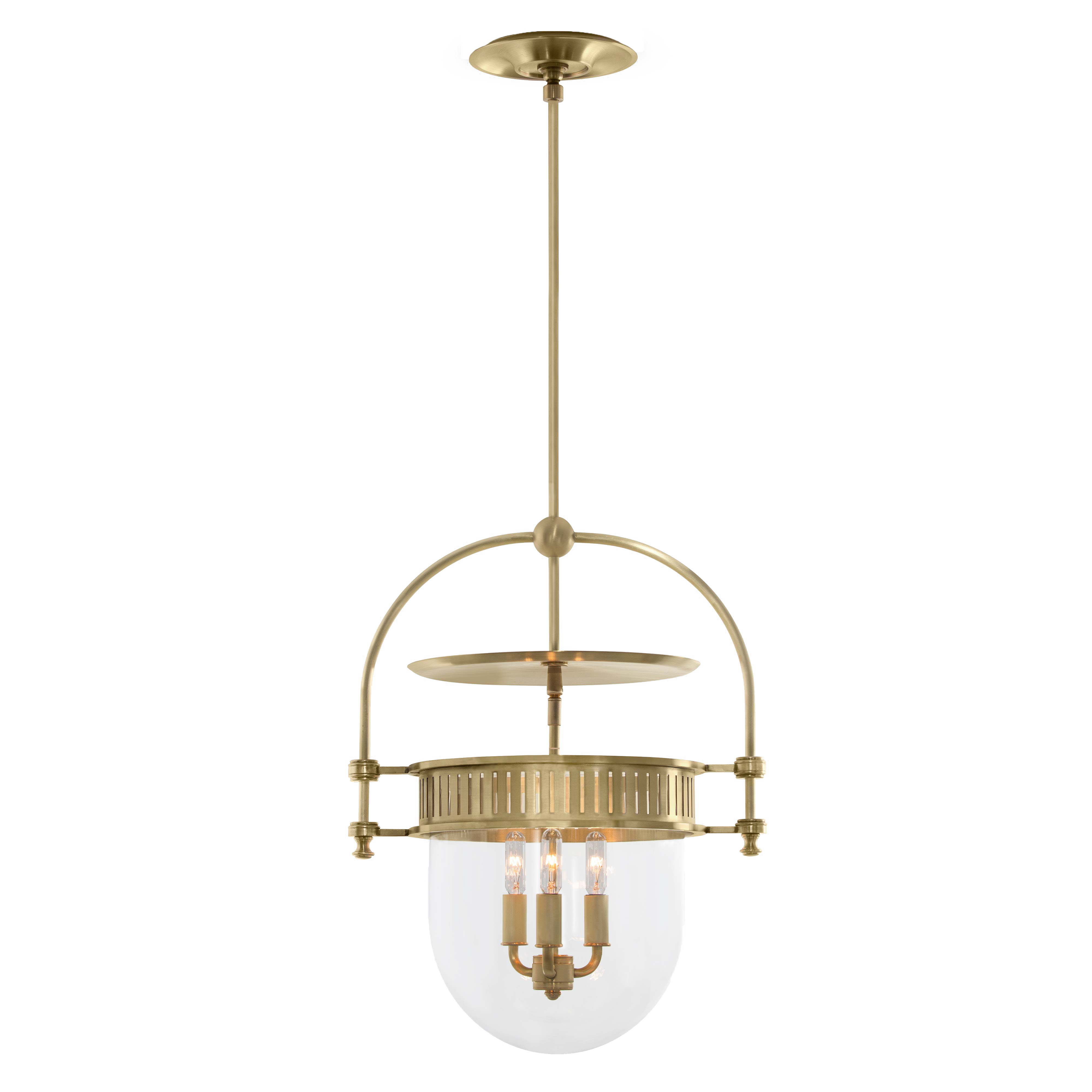 the urban electric company s dover bell shown in hewn brass finish with clear glass urban electric period lighting small lanterns