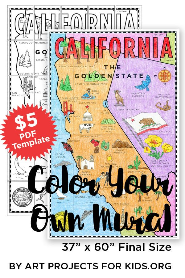 California Map Mural Map Projects Classroom Projects And Social
