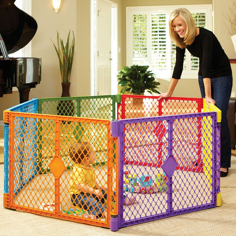 North States™ Superyard Colorplay Baby gates, Baby