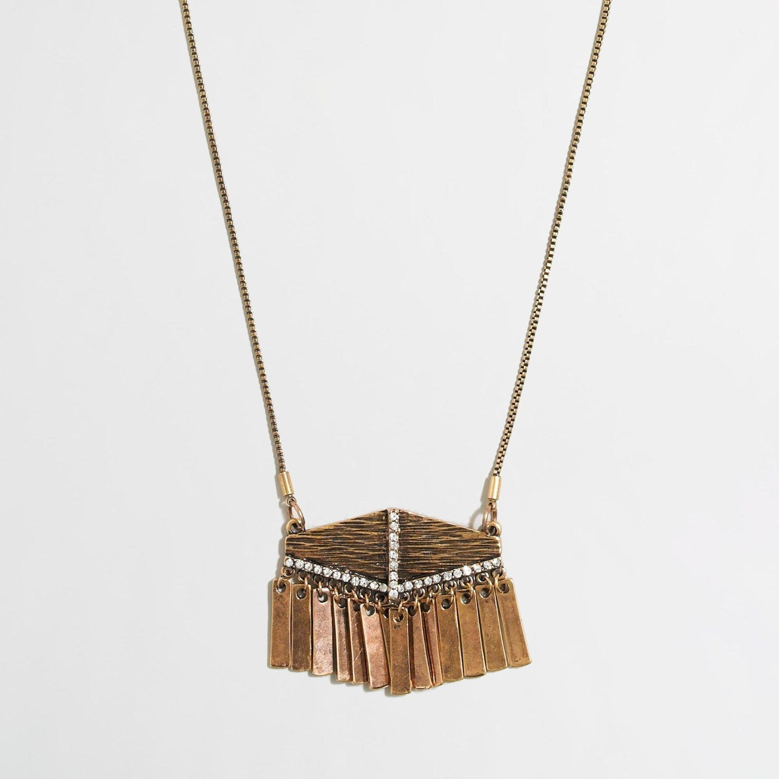 Jcrew fringe crystal pendant necklace nwt crystal pendant