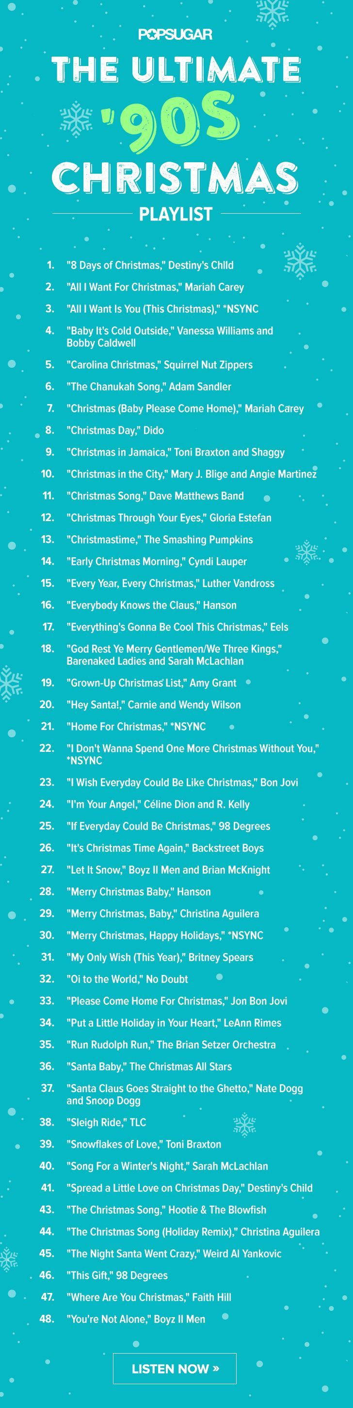 Have A Very 90s And Early 00s Christmas With This Playlist Christmas Playlist Christmas Carol Christmas Jam
