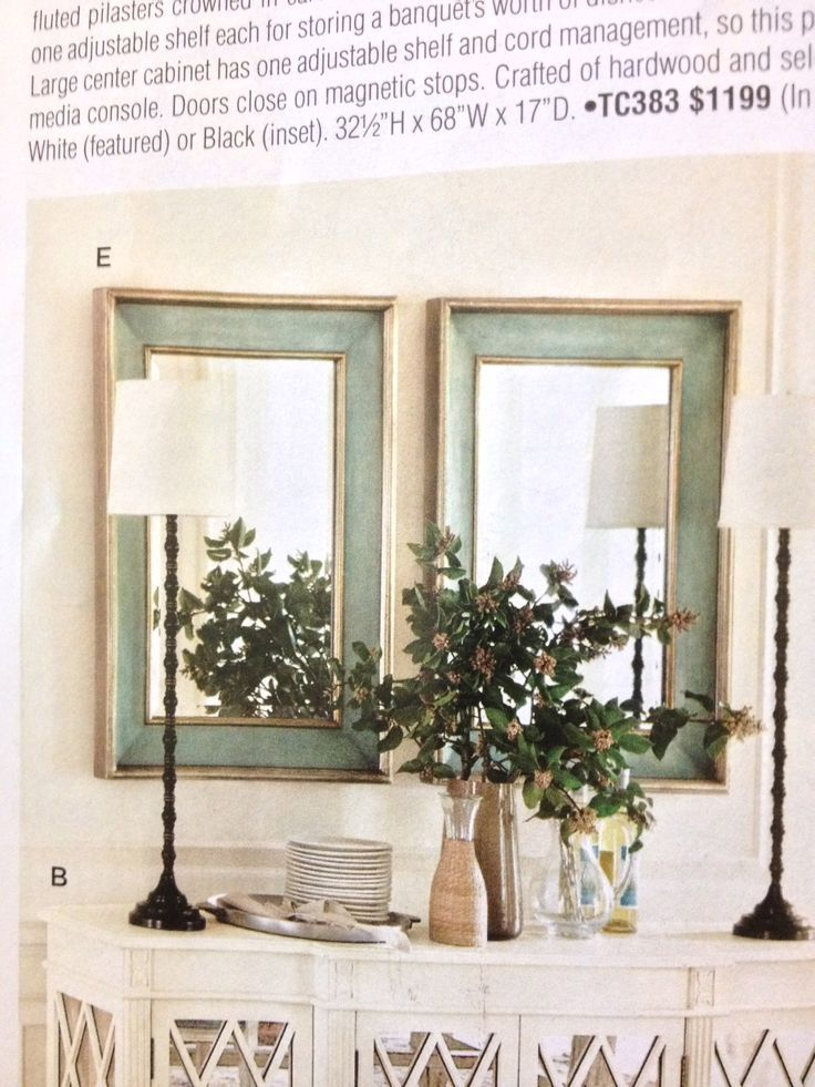 Two Mirrors Above Buffet Bing Images Mirror Dining Room Buffet Decor Living Room Mirrors