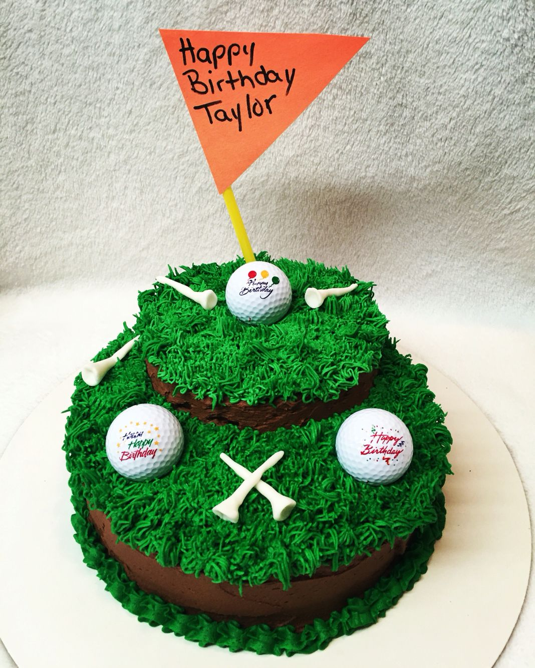 Easy Decorated Golf Birthday Cake