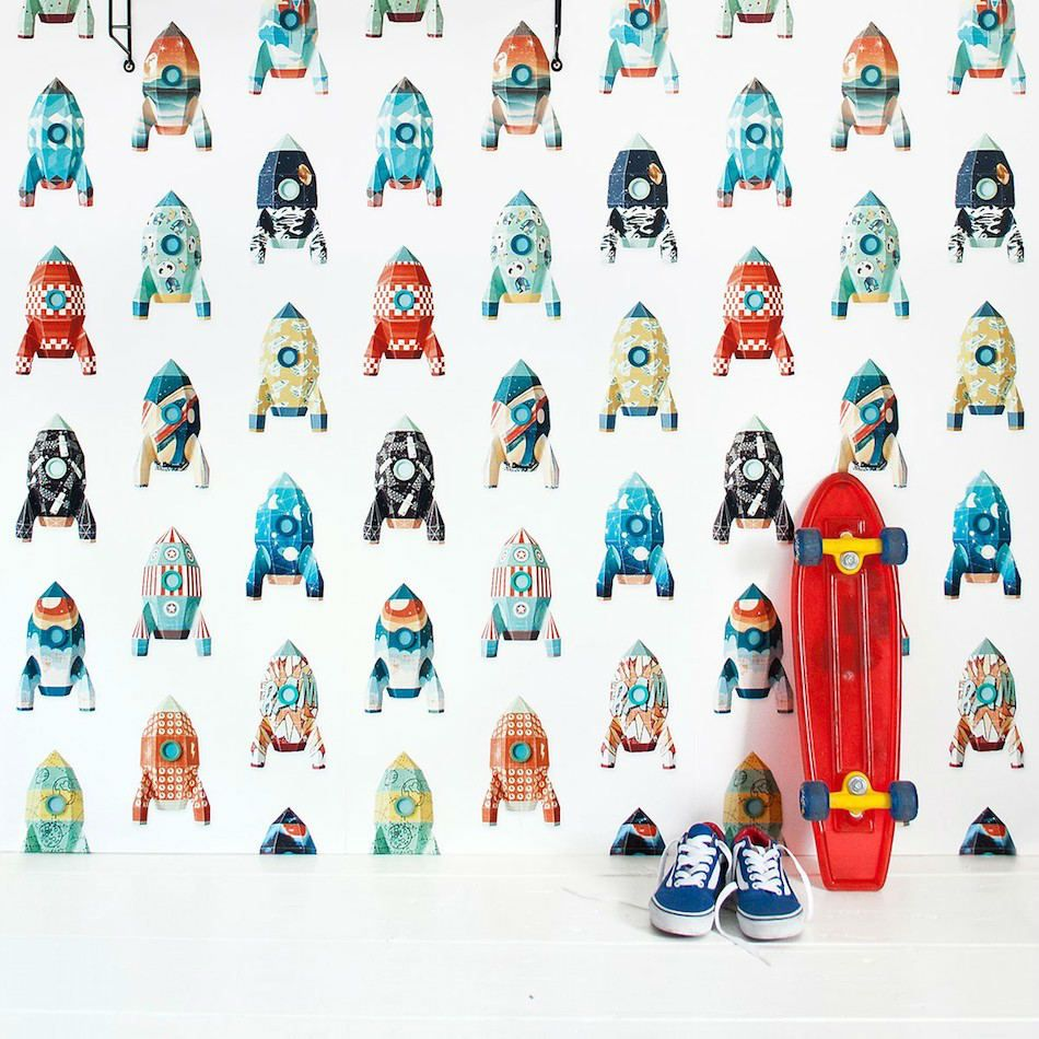 Papel pintado animales papel cohetes papel 5 papel pintado infantil children wallpaper Papel pintado animales