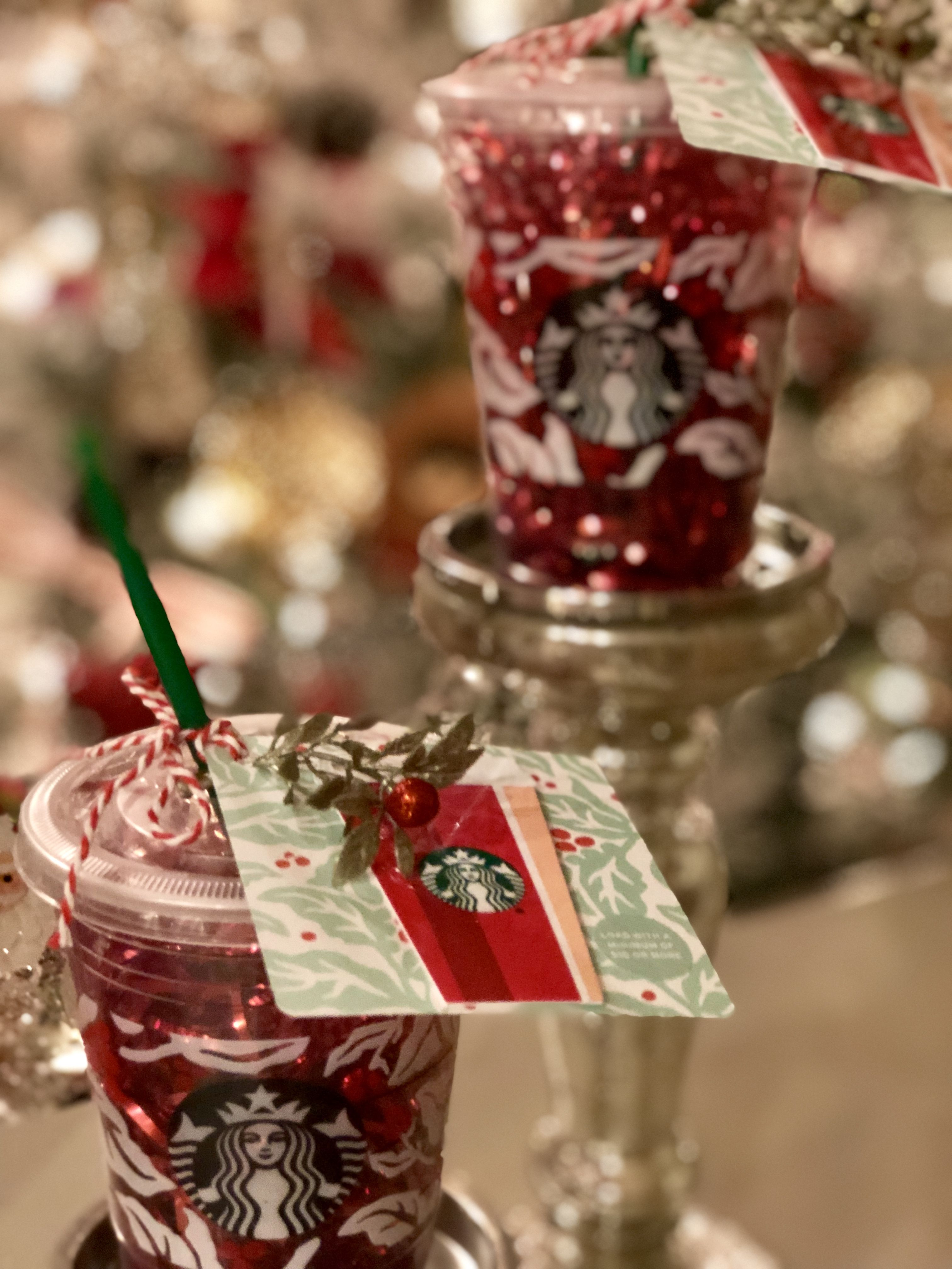 Christmas teacher gifts cute starbucks cup stuffed with