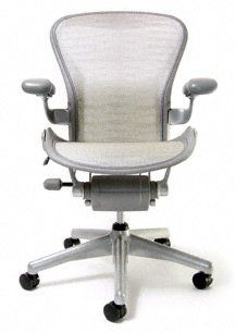 white aeron chair comfy for 1 year old by herman miller basic titanium frame gold tuxedo size a small 703 00 the new benchmark in arena of