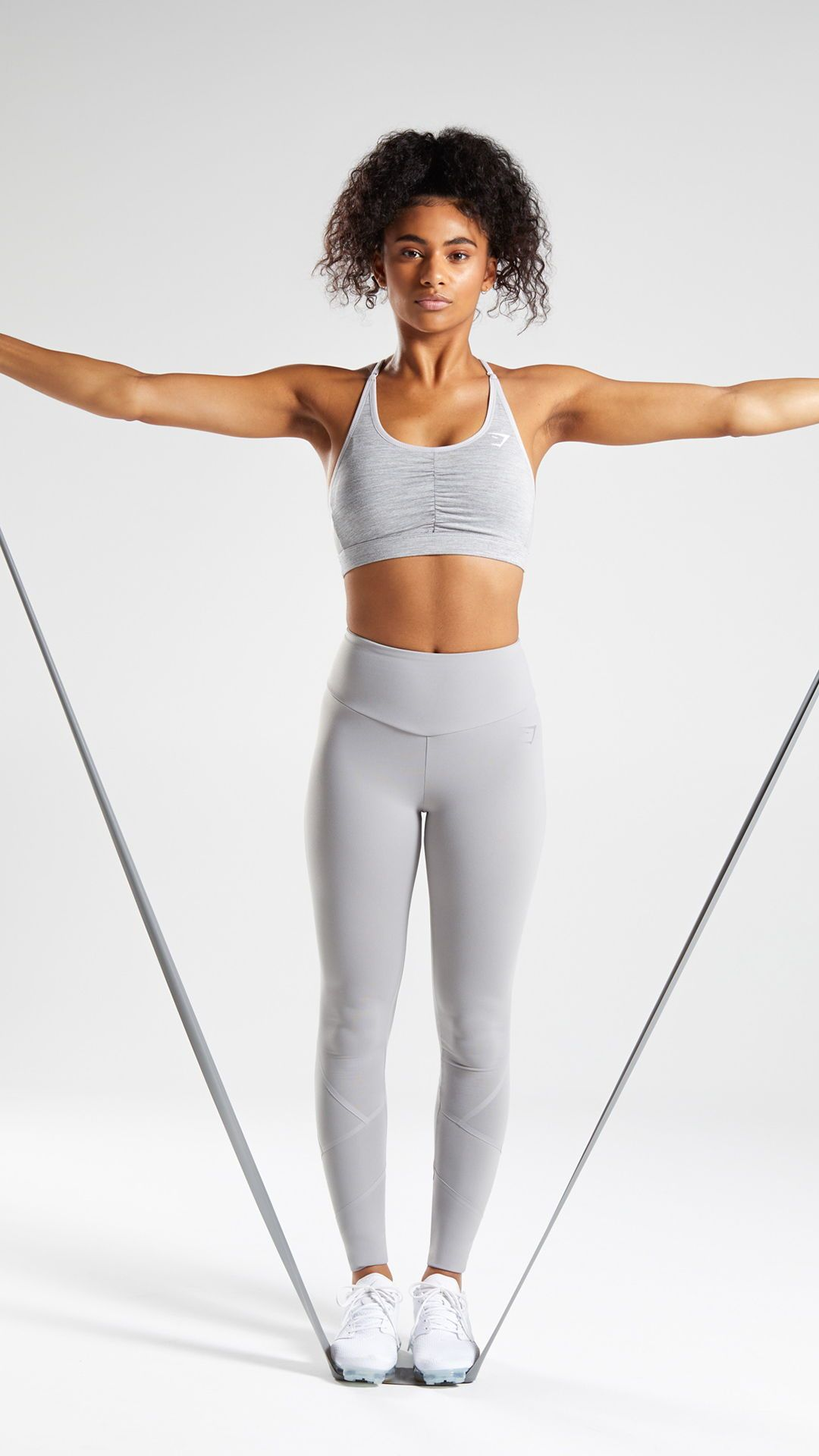 c6a1790c3de7e Fused Ankle Legging - Light Grey. Both striking and physique accentuating