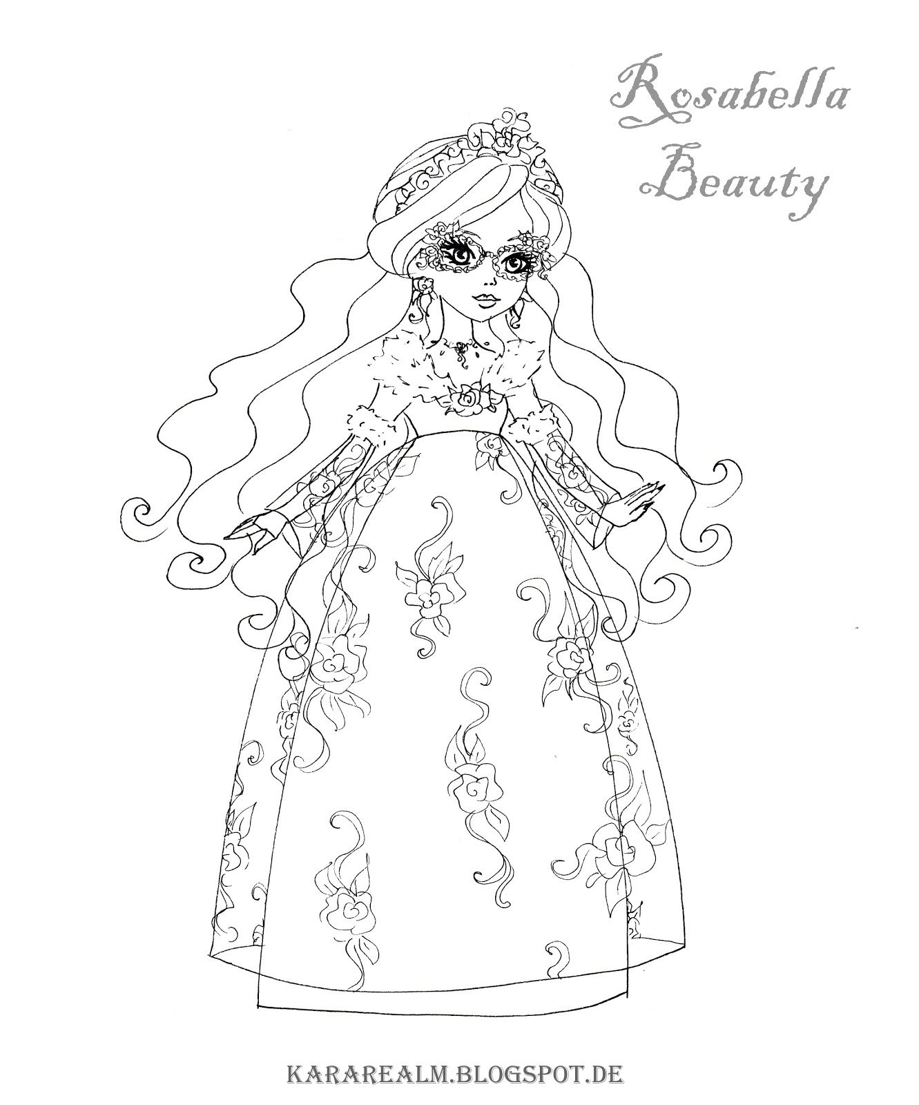 kara realm ever after high coloring pages cool printables