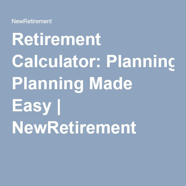 Retirement Calculator Planning Made Easy NewRetirement - roi spreadsheet