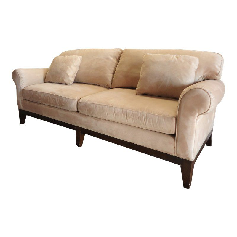 contemporary sherrill furniture sofa in beige suede products rh pinterest com