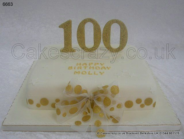 Cake decorating ideas for 100th birthday