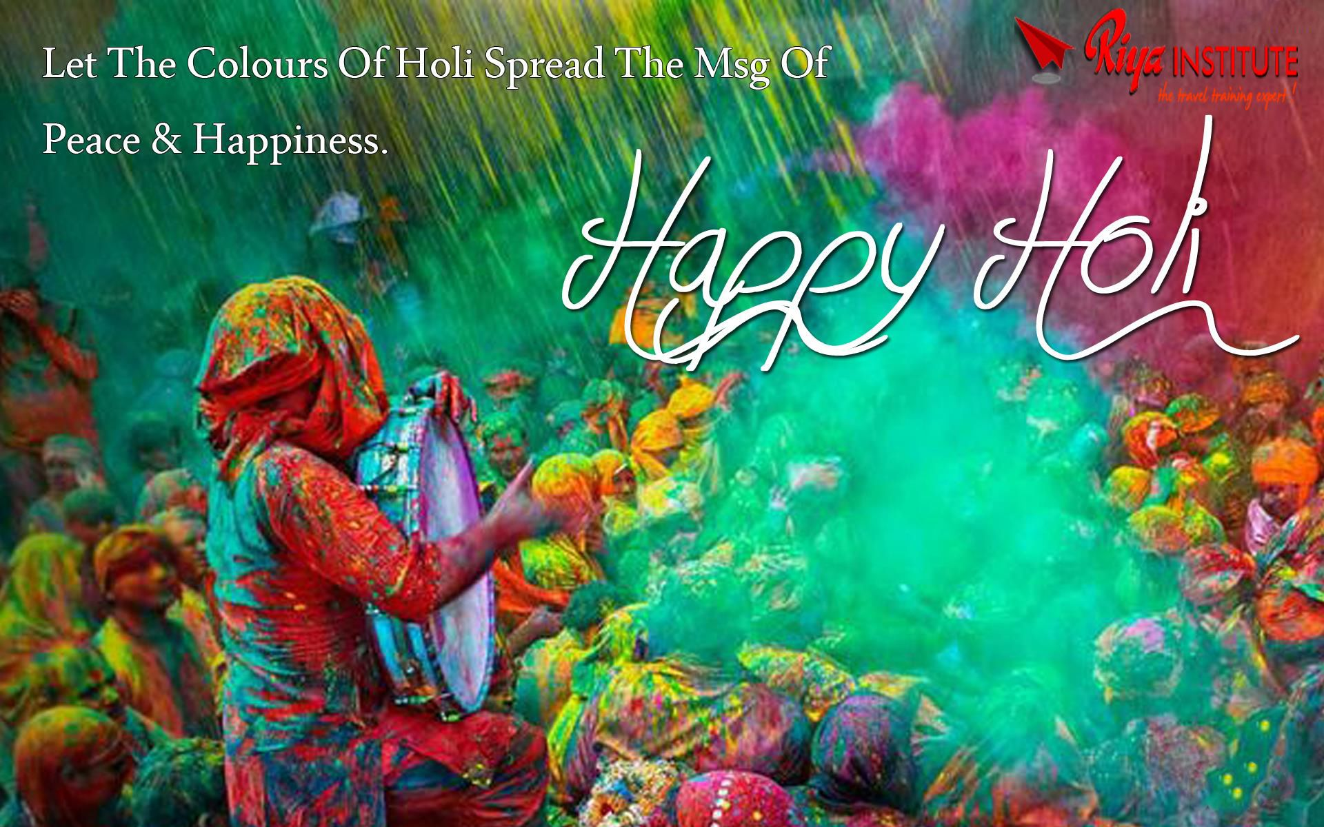 happy holi !!!!! | special day wishes from riya institute
