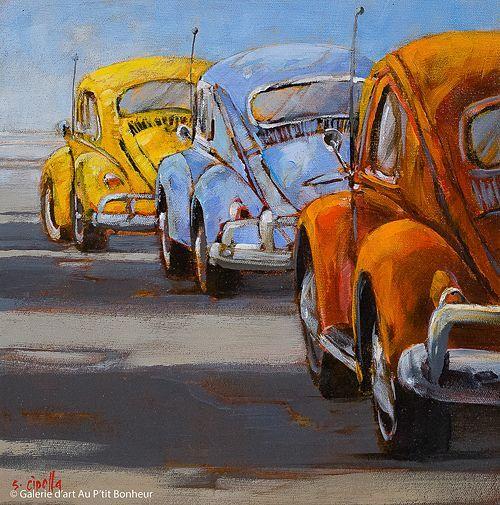 Susie Cipolla, 'To The Beach', 12'' x 12''   Galerie d&#..., Susie Cipolla, 'To The Beach', 12'' x 12''   Galerie d&#...,