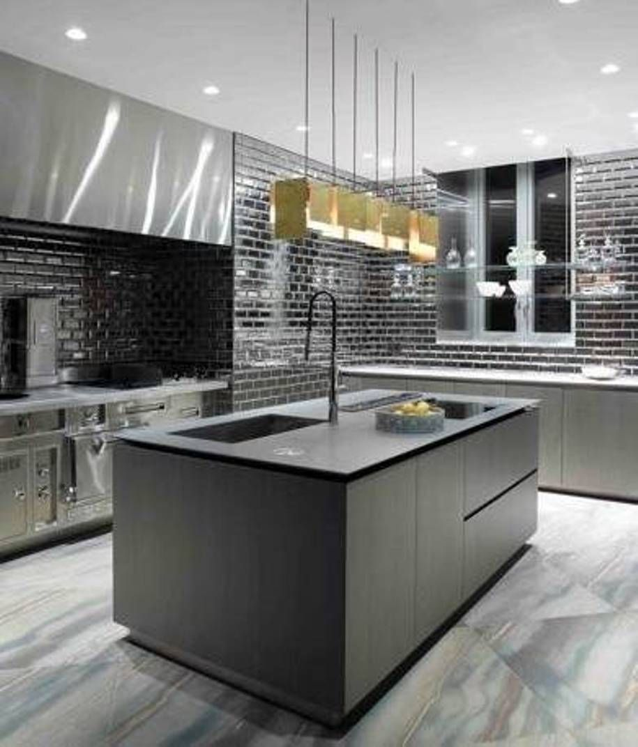 Kitchen Lighting Edmonton: This Kitchen Is Uber Modern And Stark, But The Beautiful