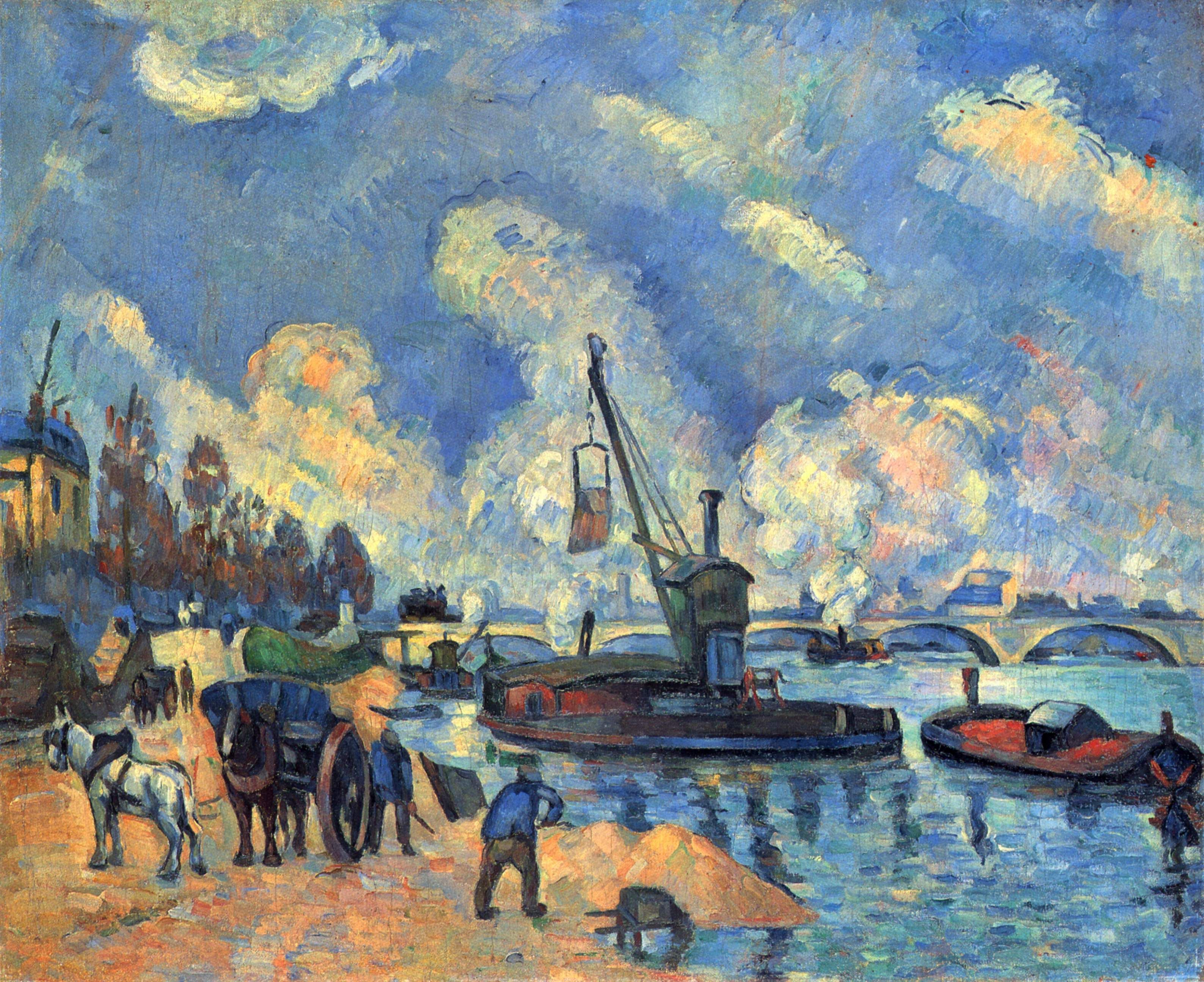 paul cezanne most famous works the seine at bercy