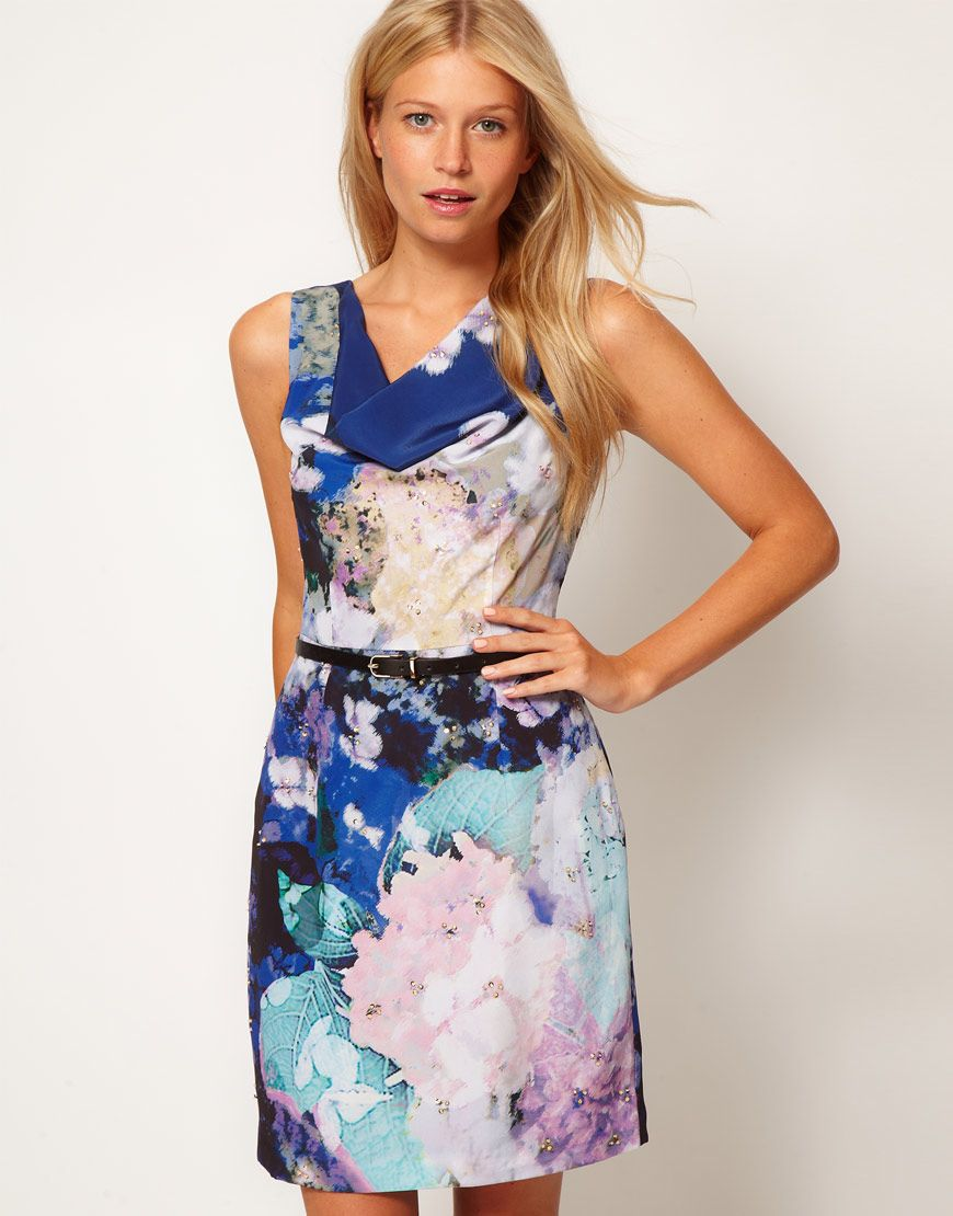 Shift dresses for wedding guests  Oasis Watercolour Shift Dress  Whimsical Dresses  Pinterest