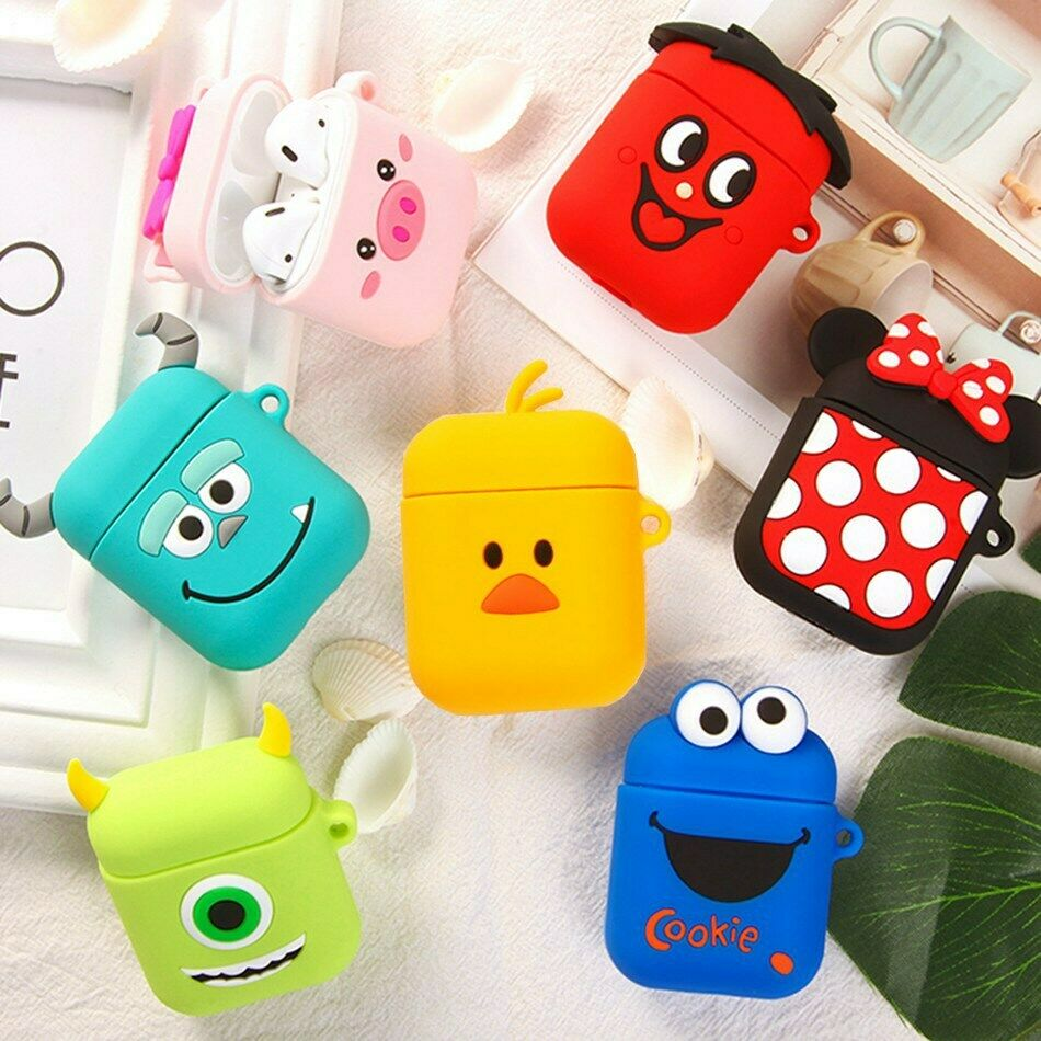 Cute 3d Silicone Case Protective Cover Skin For Apple Airpods 1 2 Pro Earphones Ebay Silicon Case Earphone Case Apple