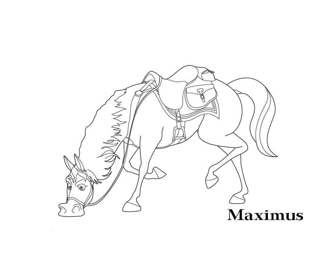 Ausmalbilder Rapunzel Maximus : Maximus A Colorier Raiponce Pinterest