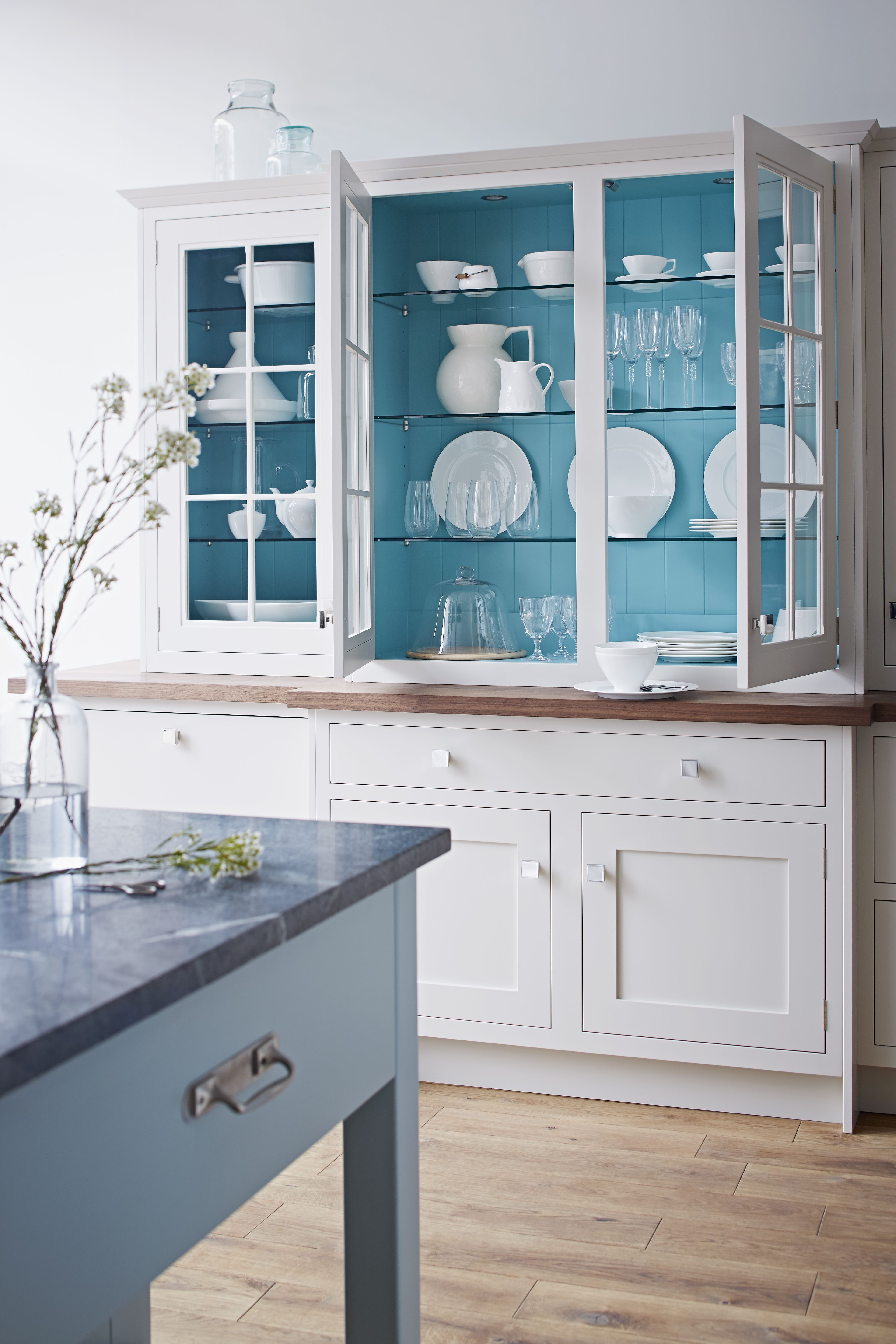 A beautiful white dresser is the perfect addition to your kitchen ...