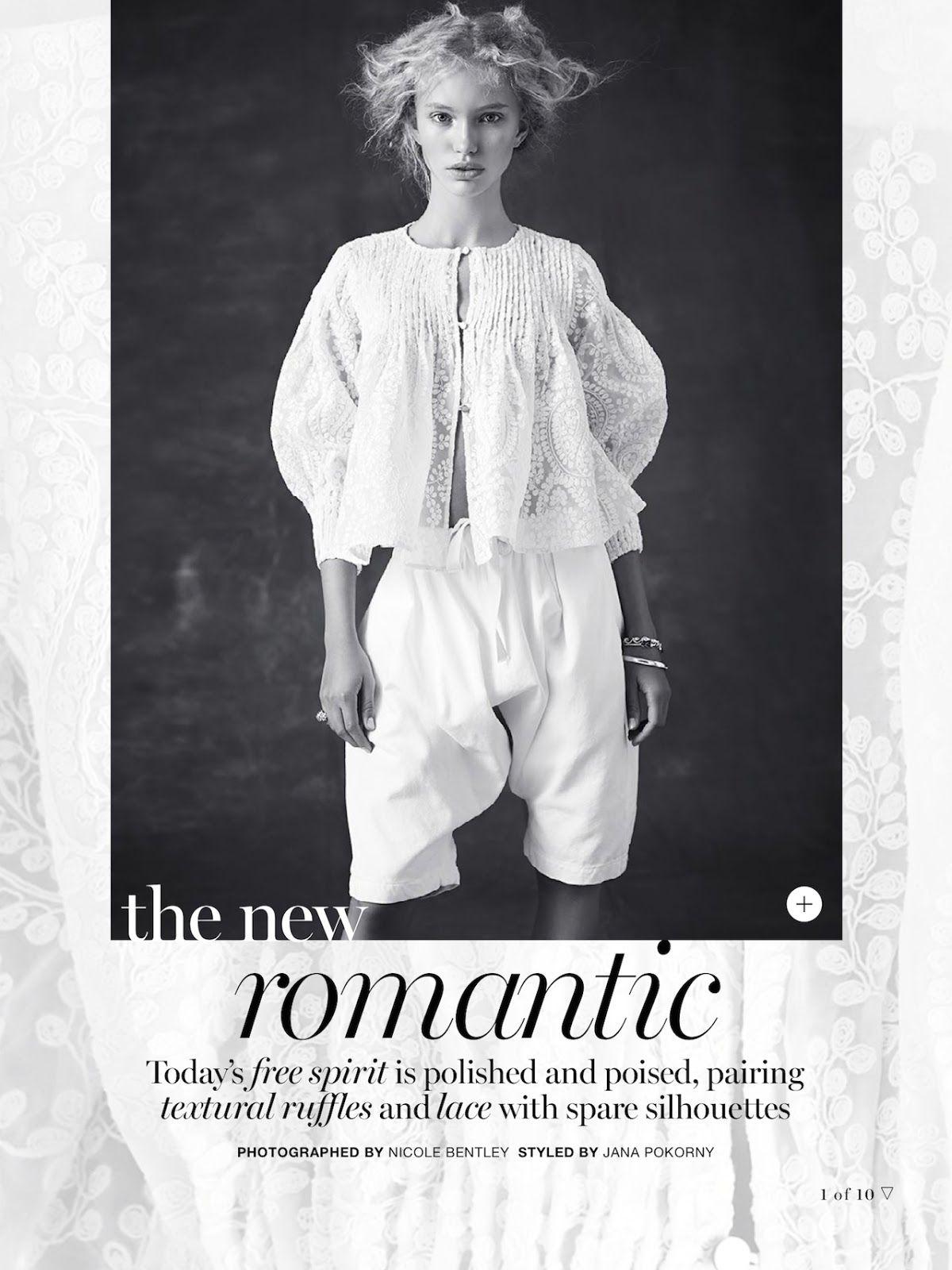 The New Romantic: #KimMcLane by #NicoleBentley for #MarieClaireAustralia November 2014