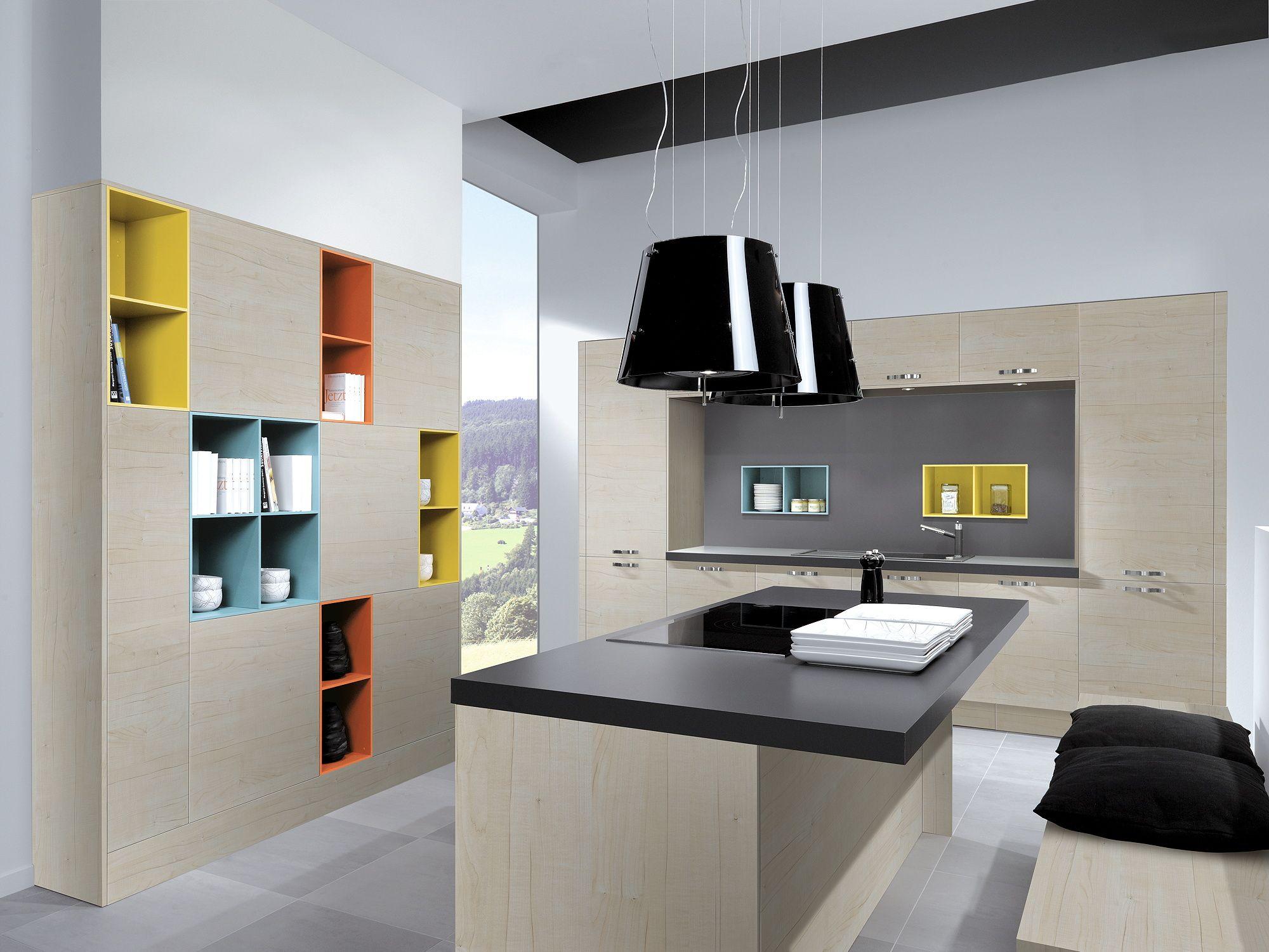 Berühmt Küche Farbe Mit Ahorn Schränke Fotos - Ideen Für Die Küche ...