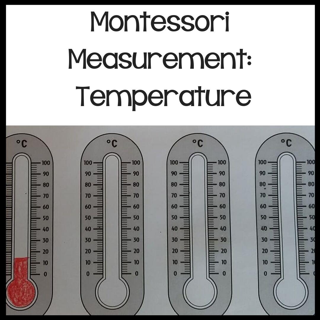 Montessori Measurement Temperature