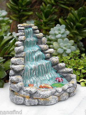 Miniature Dollhouse FAIRY GARDEN Accessories ~ ZEN Waterfall Koi Fountain ~  NEW