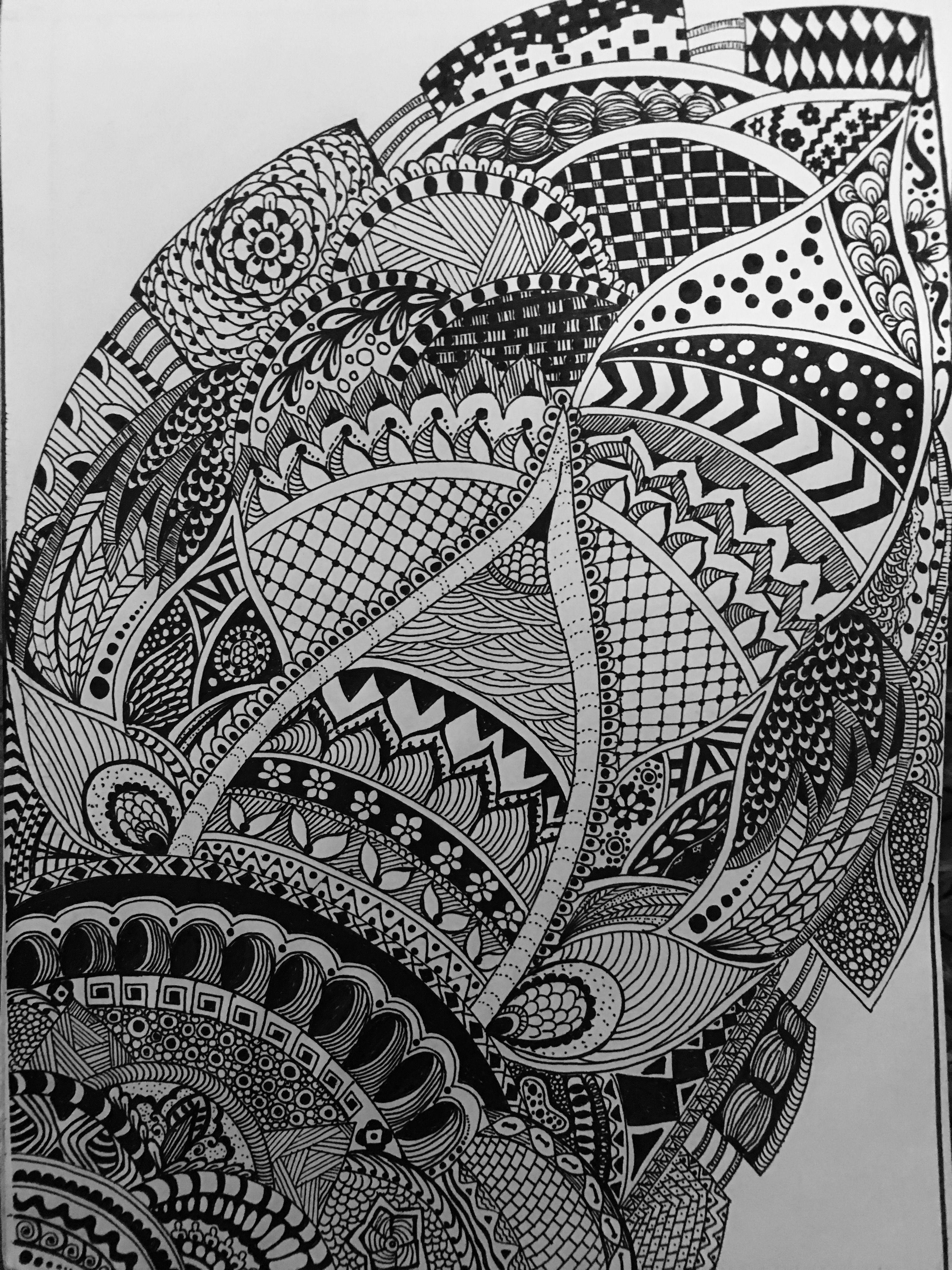 Hand drawn indian inspired mandala mandalashandrawndrawings