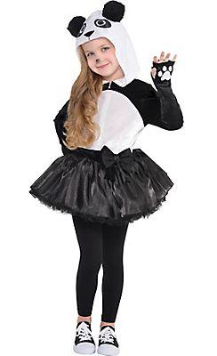 Childrens Panda Costume Boys Girls Animal Zoo Fancy Dress Outfit