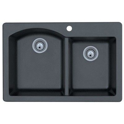 Quartz 33 L X 22 W Double Basin Drop In Kitchen Sink Drop In Kitchen Sink Double Bowl Kitchen Sink Sink