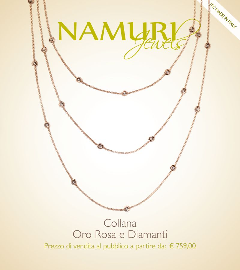 https://itcportale.it/?p=4563  Collana Namuri Jewels: Oro Rosa e Diamanti Scopri lo STORE PARTNER piu' vicino a te su ItcPortale.it #itcportale #jewelry #diamond #lifestyle #musthave #wedding #engagement #madeinitaly #diamanti #orobianco #gioielli