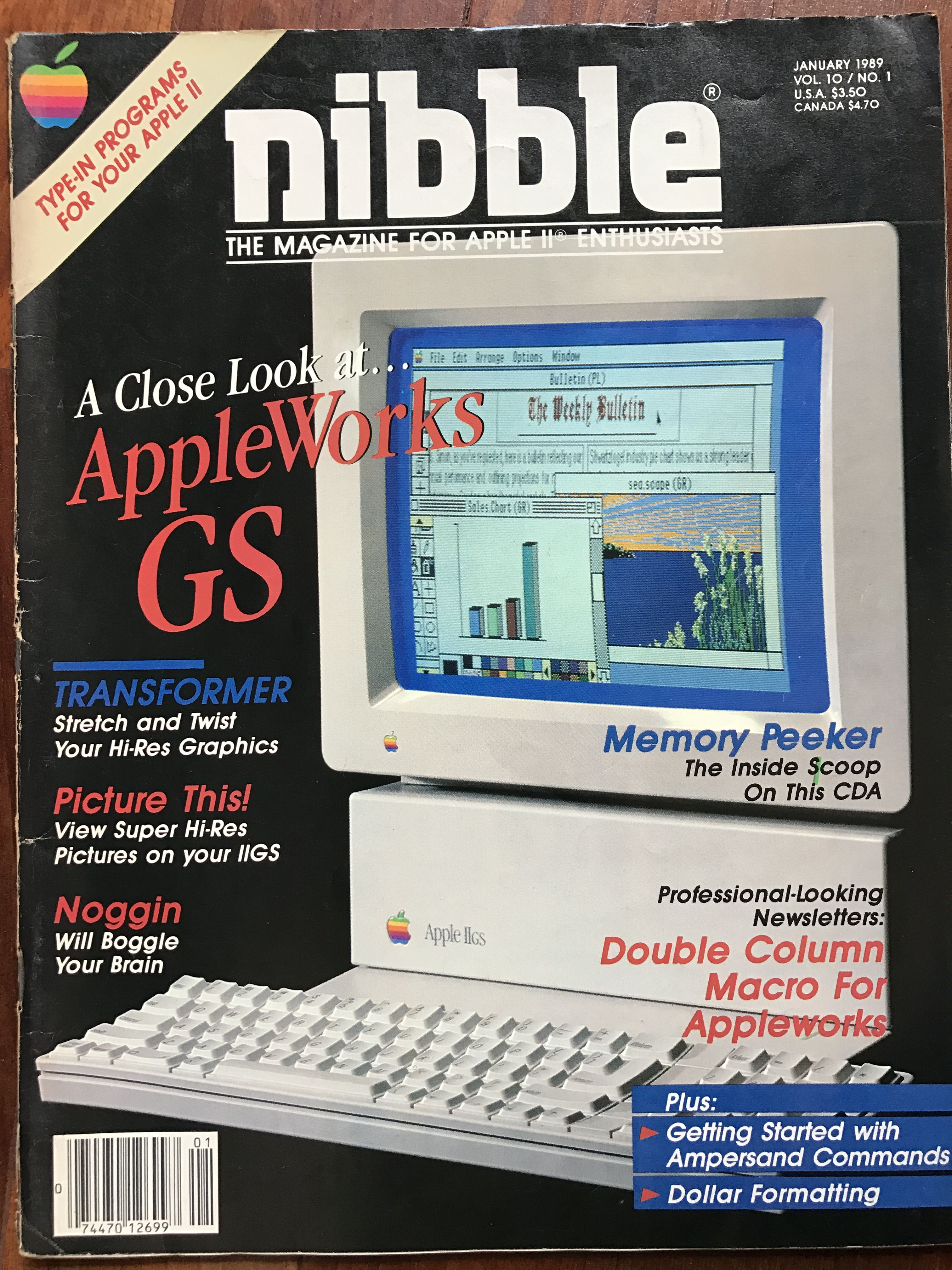Nibble magazine, covering the new AppleWorks GS suite. | Computer ...