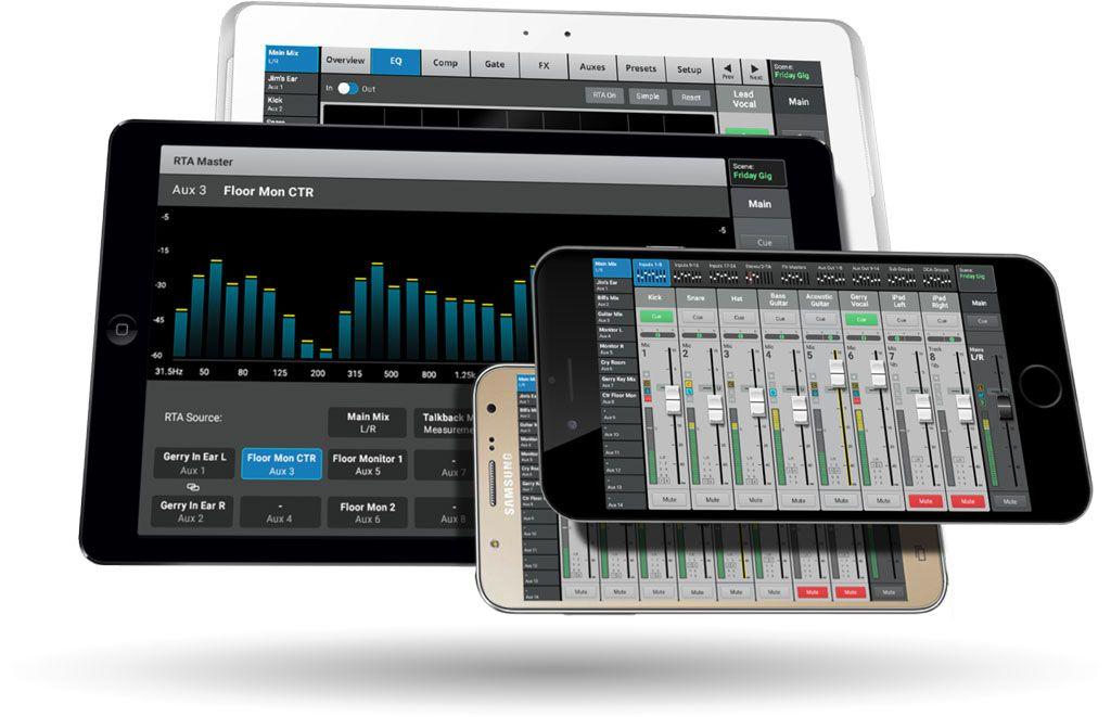 Touchmix 30 Qsc Console Numerique Musicmatos Com Console Numeriques Support Tablette