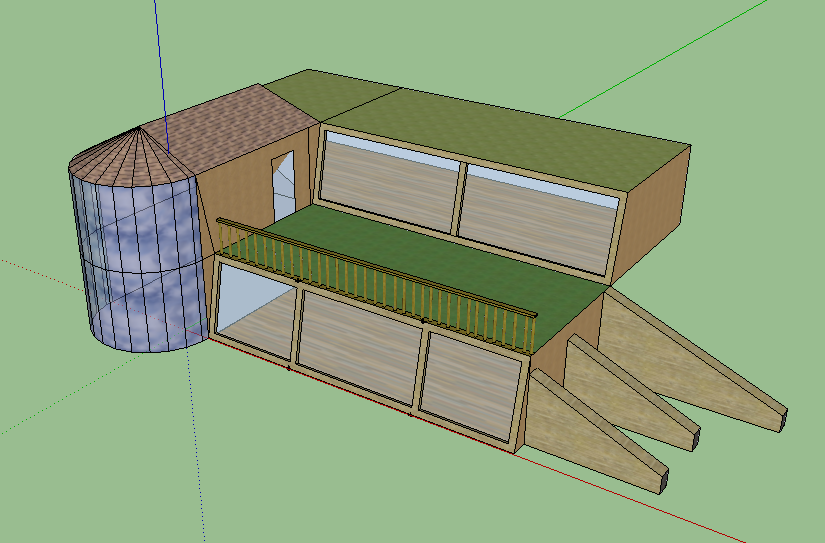 Double Height Earthship Design Buttresses On The Bottom Right Can