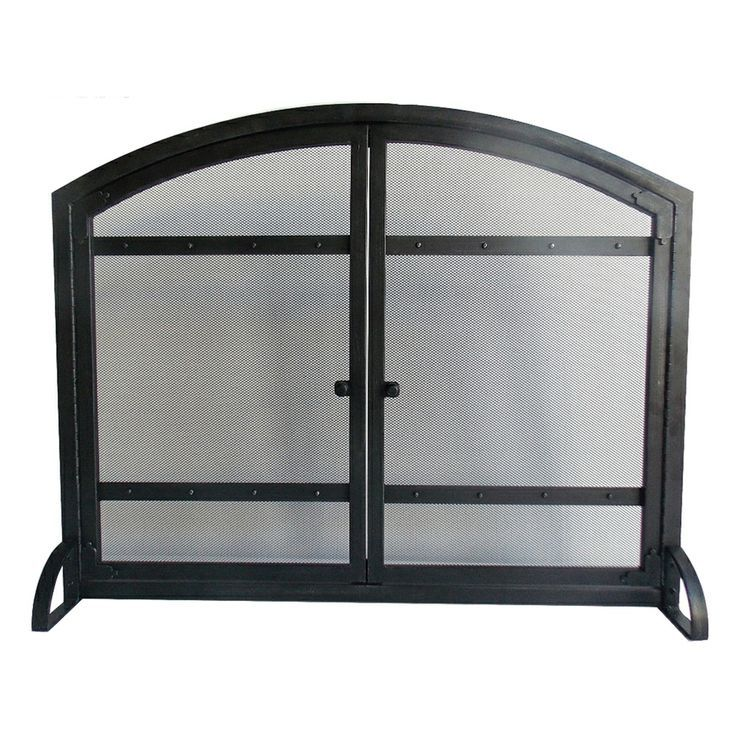 Lowe S Fireplace Screens Hearth 31 In X 12 In Antique Black