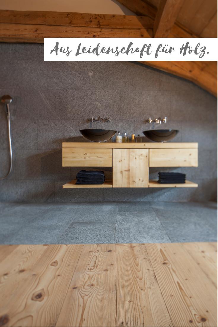 Badezimmermöbel auf Altholz Fichte/Tanne gebürstet in Kombination ... | {Badezimmermöbel altholz 42}