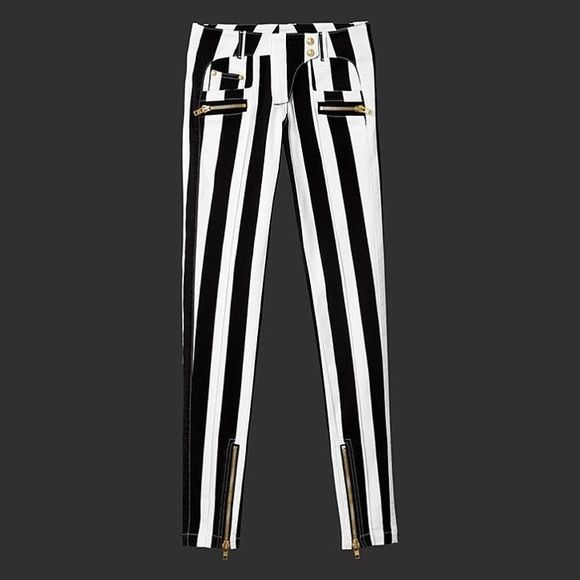 b6d8a5ec Block Striped Pants You know what it is.. Balmain x H&M. Brand new with  tags. NO TRADES. I have more pieces from the collection.. H&M Pants Skinny