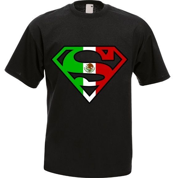 Superman T-shirt Mexico Flag Design