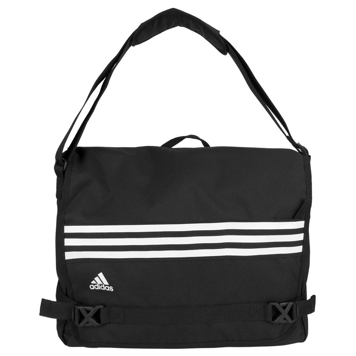 c539a0b17 Bolsa Adidas Messenger 3S Masculina - Preto e Branco | BOLSAS ...