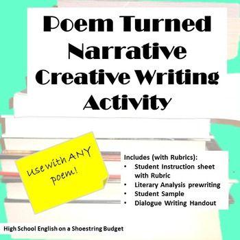Poem Turned Narrative Creative Writing Activity (For Any Poem
