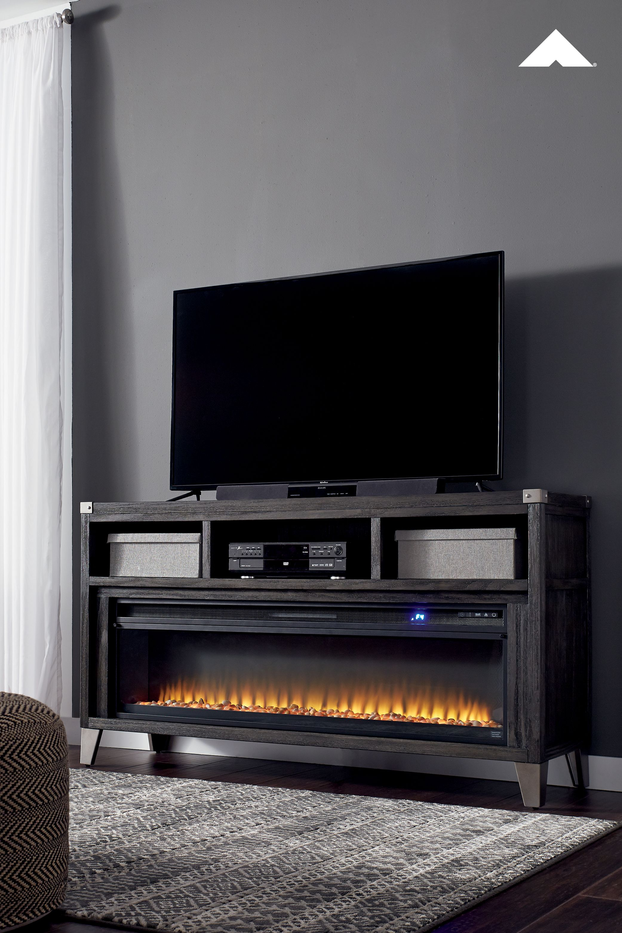 Todoe Large Tv Stand With Fireplace Option Make Watching Tv A