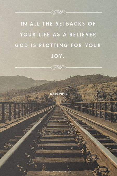 In All The Setbacks Of Your Life As A Believer God Is Plotting For
