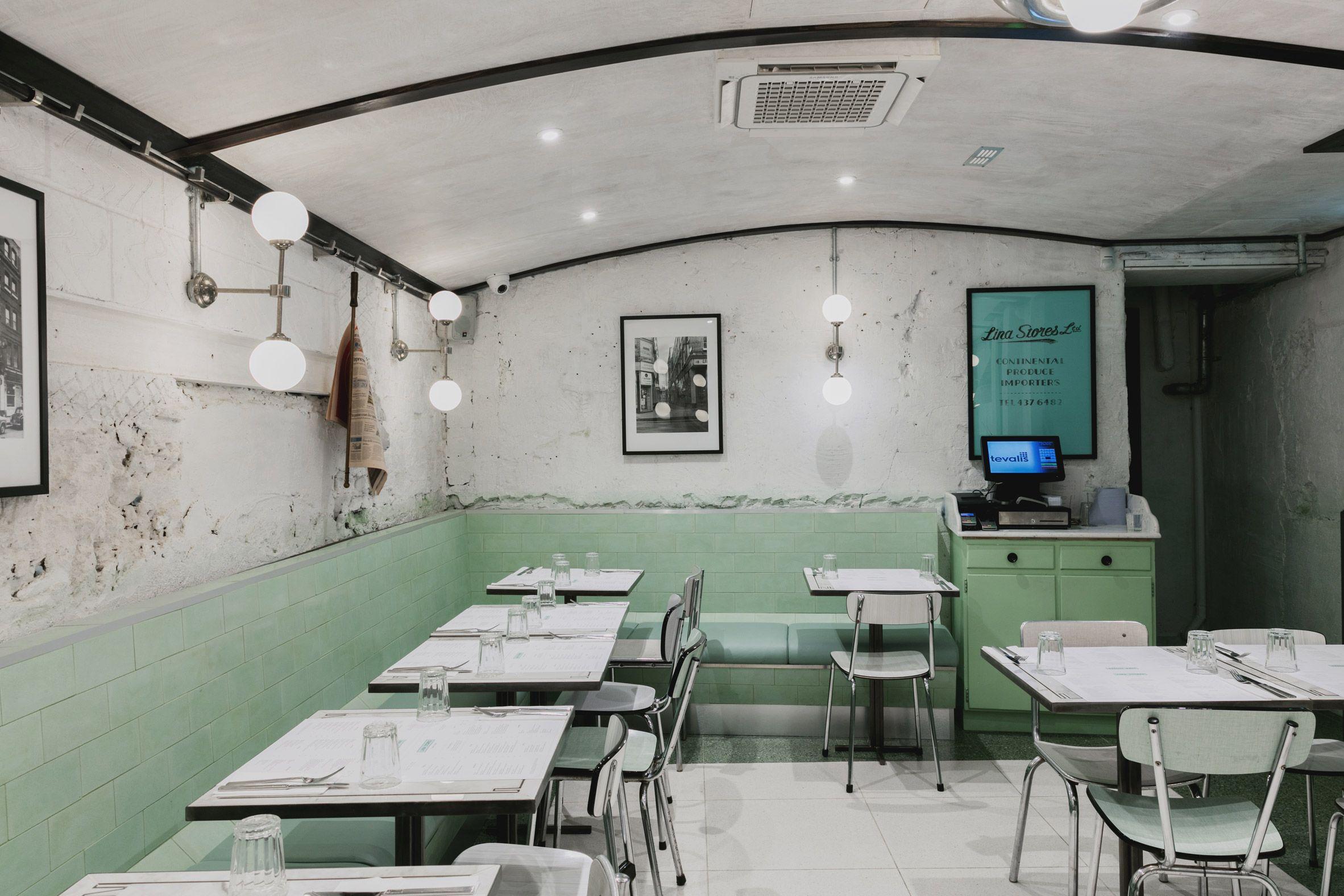 Red Deer Creates Pastel Toned Restaurant For Soho Institution Lina Stores Restaurant Layout Restaurant Concept Restaurant