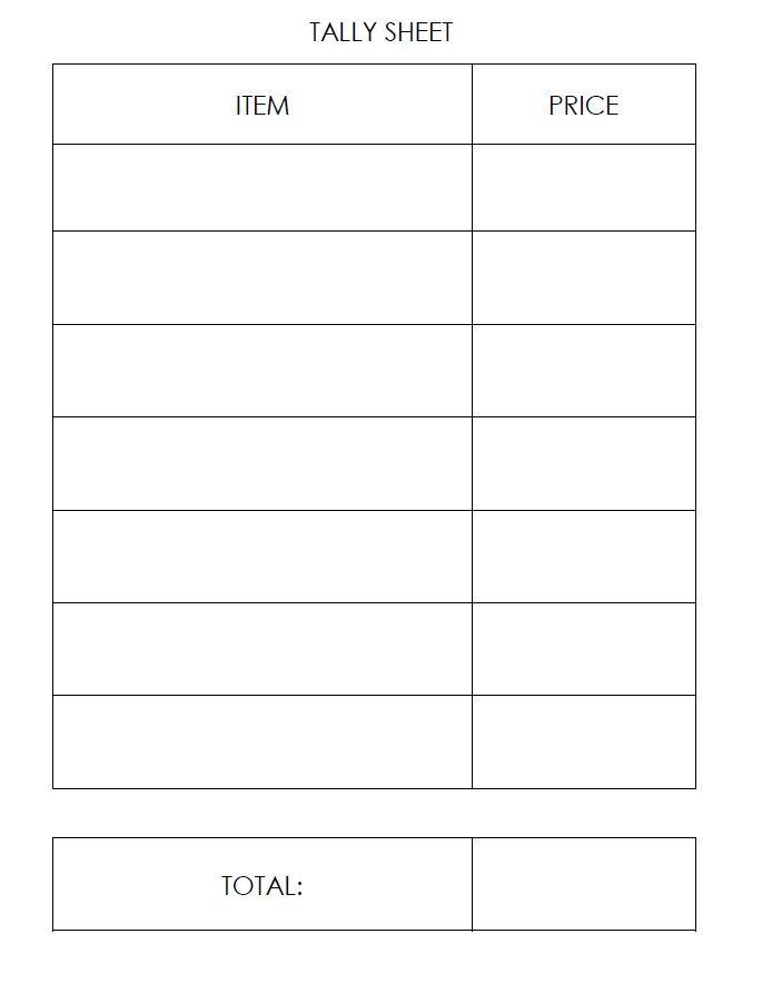 cash sheets templates