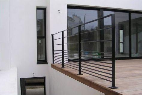 Garde-corps du0027extérieur   en métal   à panneaux en verre CABOURG - escalier interieur de villa