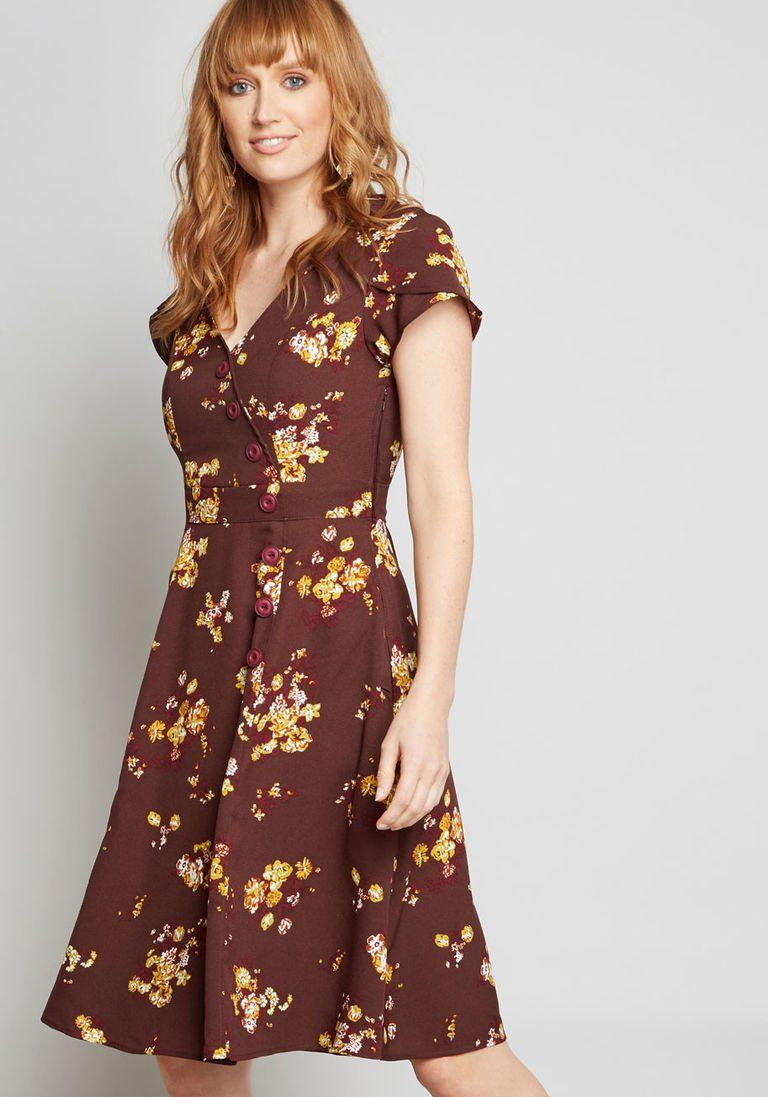 7142be5b91a Sentimental Special Short Sleeve Dress in 3X - A-line Knee Length by  ModCloth